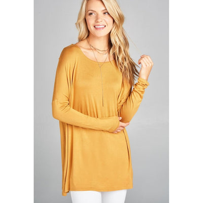 Women Long Sleeve Round Neck Jersey Tunic Top Tops