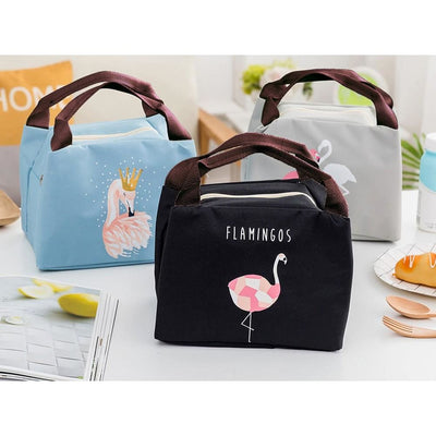 Women Lunch Bag Large Capacity Insulated Canvas Cooler Bag 4 Colors Lunch Bag