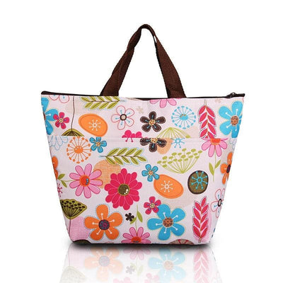 Women Lunch Bag Large Insulated Canvas Cooler Bag 5 Colors lunch bag