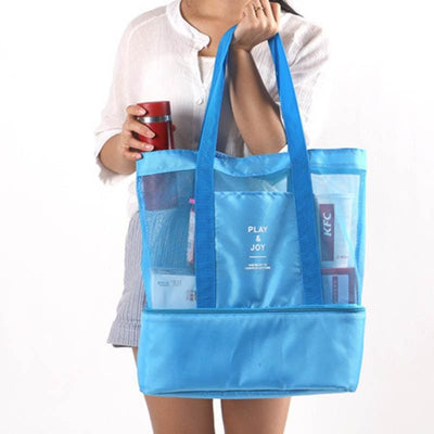 Women Lunch Bag Large Thermal Insulation 2 Layers Thermal Bag 4 Colors Lunch Bag