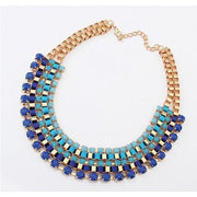 Women Necklace Choker Bohemian Statement Multicolor Necklace. Necklace