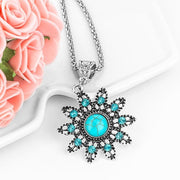 Women Necklace Exquisite Design Blue Natural Stone 9 Designs Necklace