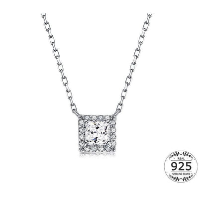 Women Necklace Real 925 Sterling Silver Fine Necklace