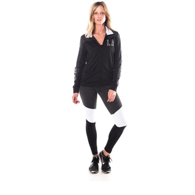 Women Plus Los Angeles Logo Active 2 Pcs Set Outfit Plus Outwear