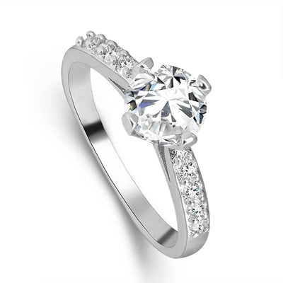 Women Ring Elegant Stylish Gold And Silver Color Shiny Cubic Zirconia Rings. Rings