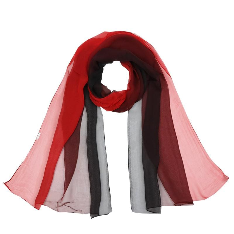 Women Scarf Spring Silk Shawl Imitated Silk 17 Colors Color 1 Scarves