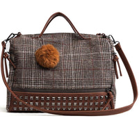 Women Shoulder Bag With Rivets New Arrival 2 Colors Brown / 30X12X23Cm Shoulder Bag