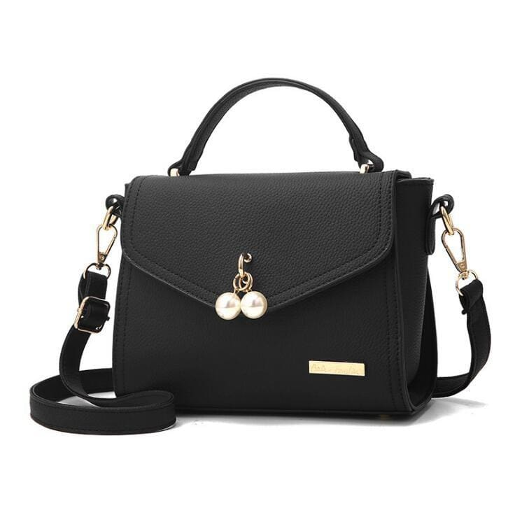 Women Small Messenger Casual Shoulder Bag Pearl 6 Colors Black / (20Cm<Max Length<30Cm) Shoulder Bag