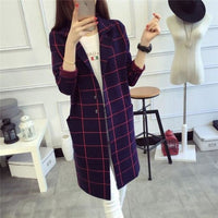 Women Sweater High Quality Long Cardigan Autumn Winter 3 Colors Multi / One Size Fall Sweater
