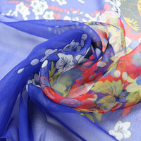 Women Thin Silk Scarf Chiffon Flower Print Luxury Scarves 6 Colors Scarves