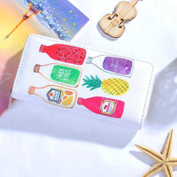 Women Wallet Modern Leather Strawberry Watermelon Flamingos 6 Colors 02 Wallet