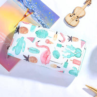 Women Wallet Modern Leather Strawberry Watermelon Flamingos 6 Colors 04 Wallet