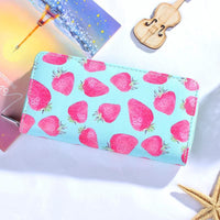 Women Wallet Modern Leather Strawberry Watermelon Flamingos 6 Colors 05 Wallet