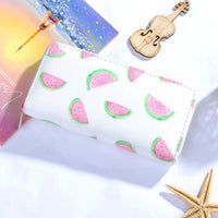 Women Wallet Modern Leather Strawberry Watermelon Flamingos 6 Colors 06 Wallet