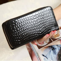 Women Wallet Pu Leather Card Holder Long Style 7 Colors Black Wallet