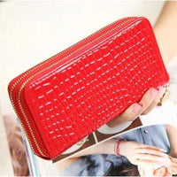 Women Wallet Pu Leather Card Holder Long Style 7 Colors Red Wallet