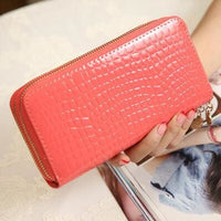 Women Wallet Pu Leather Card Holder Long Style 7 Colors Watermelon Red Wallet
