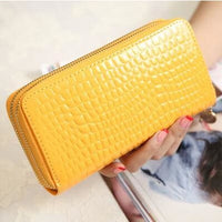 Women Wallet Pu Leather Card Holder Long Style 7 Colors Yellow Wallet
