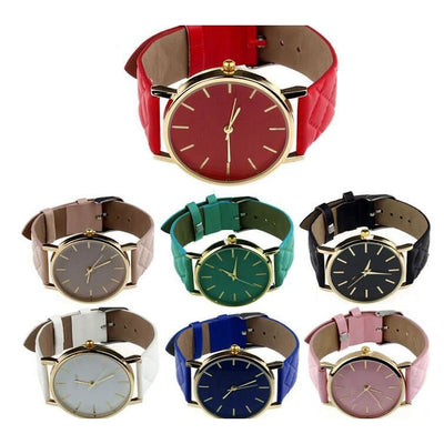 Women Watch Casual Dress Leather Band Quartz Analog Wrist Watch 7 Colors Women Watch