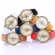 Women Watch Musical Note Pattern Analog Leather Band Watch In 6 Colors Women Watch