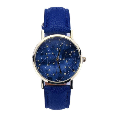 Women Watch Sky Stars Night Pattern Analog Quartz Watch In 4 Colors Blue Women Watch