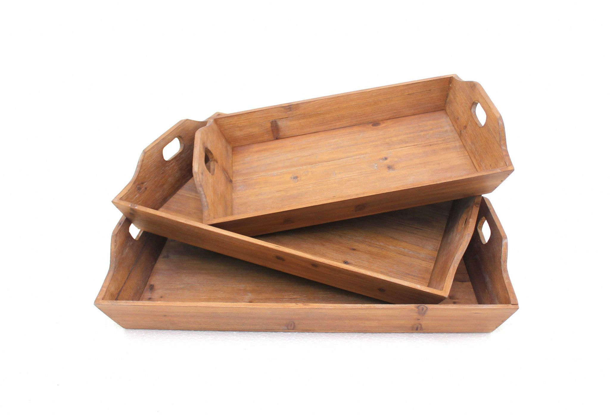 Country Cottage, Wooden - Serving Tray 3pcs