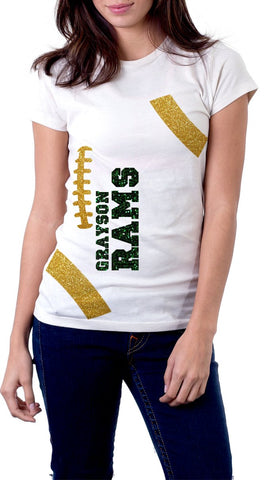 Grayson Rams Football Shirt - Peachy Brass