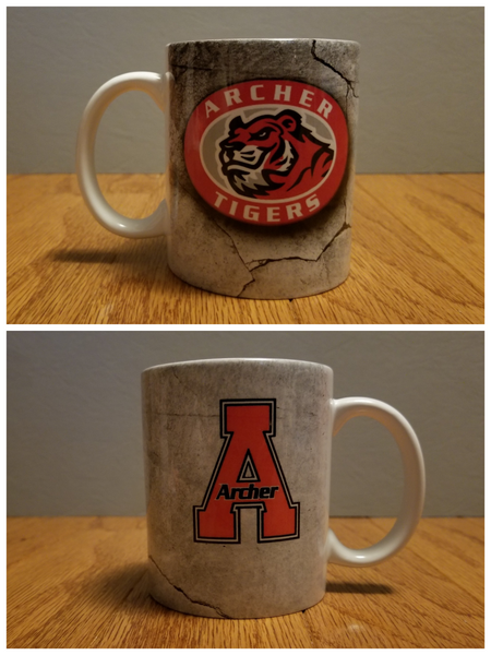 Archer Tigers Mug - Peachy Brass