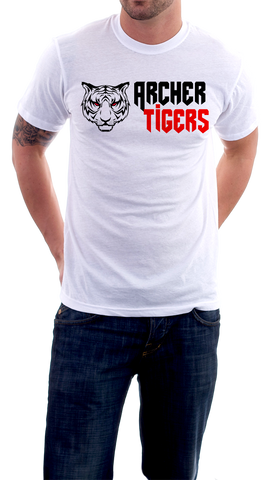 Archer Tigers Shirts (White) - Peachy Brass