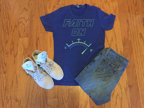 Faith On Full T-shirt,  - Peachy Brass