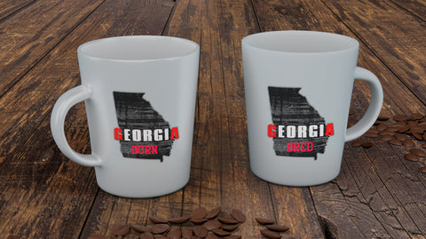 Georgia Born Georgia Bred Mug, Drinkware - Peachy Brass