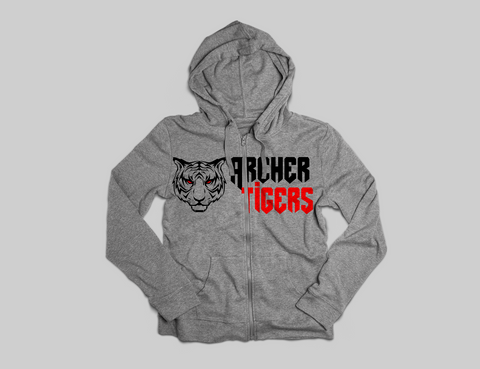 Archer Tigers Zipper Hoodie - Peachy Brass