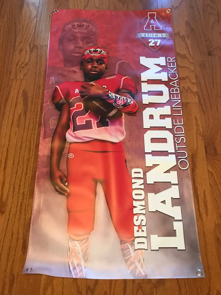 Player Banners (Reusable/Keepsake) - Peachy Brass
