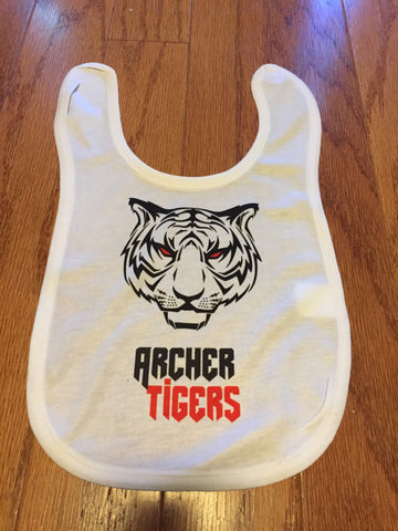 Baby Bib Archer Tigers - Peachy Brass