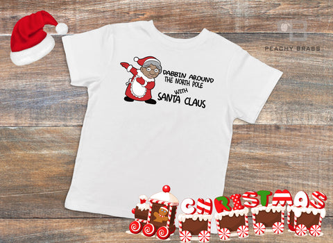 Dabbin Mrs. Claus Shirt, Shirts - Peachy Brass