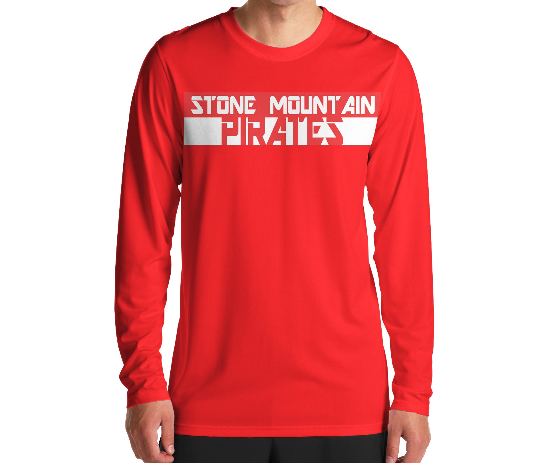 Stone Mountain Pirates Red Blocked Out Shirt - Peachy Brass