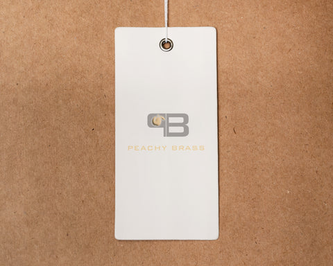 100 Hang Tags,  - Peachy Brass