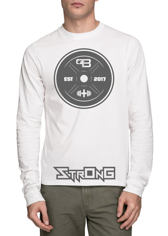 StrOng Long Sleeve Barbell Shirt, shirt - Peachy Brass