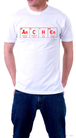 Periodic Table We Are Archer Shirt (Short Sleeve) - Peachy Brass