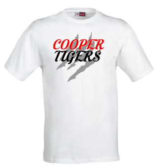 Cooper Tigers Shirts (White), Shirts - Peachy Brass