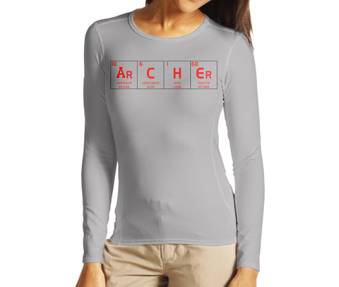 Periodic Table We Are Archer Shirt (Long Sleeve) - Peachy Brass