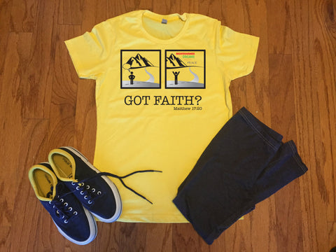 Got Faith? T-Shirt,  - Peachy Brass