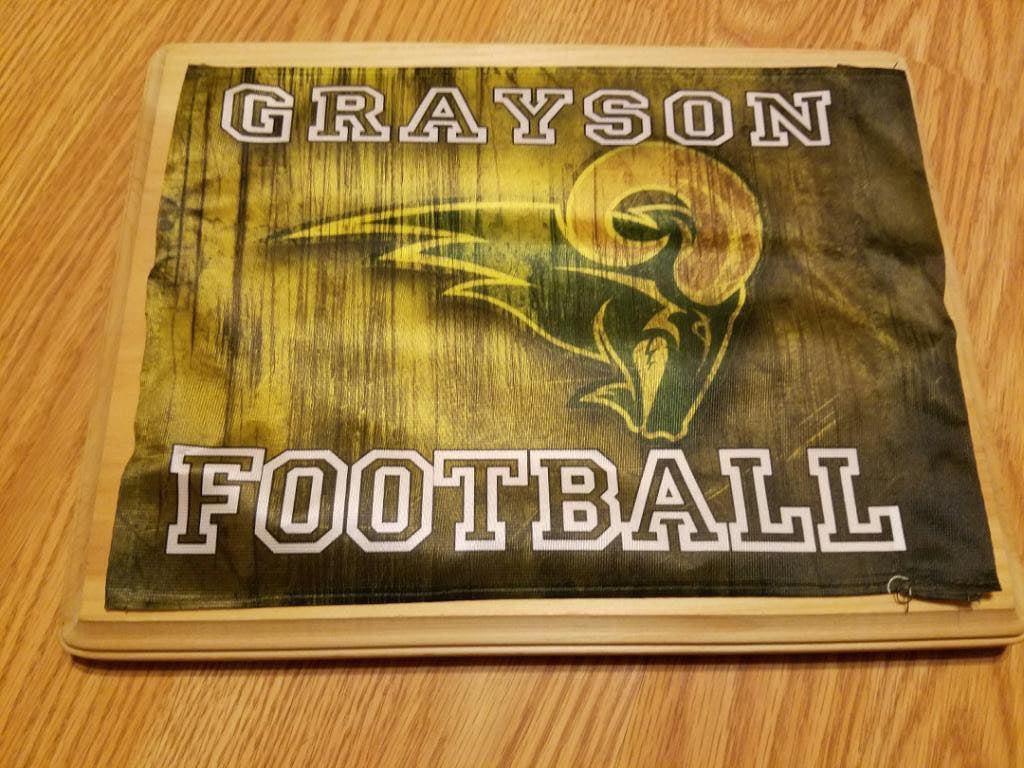 Grayson Rams Car Flag, Car Flags - Peachy Brass