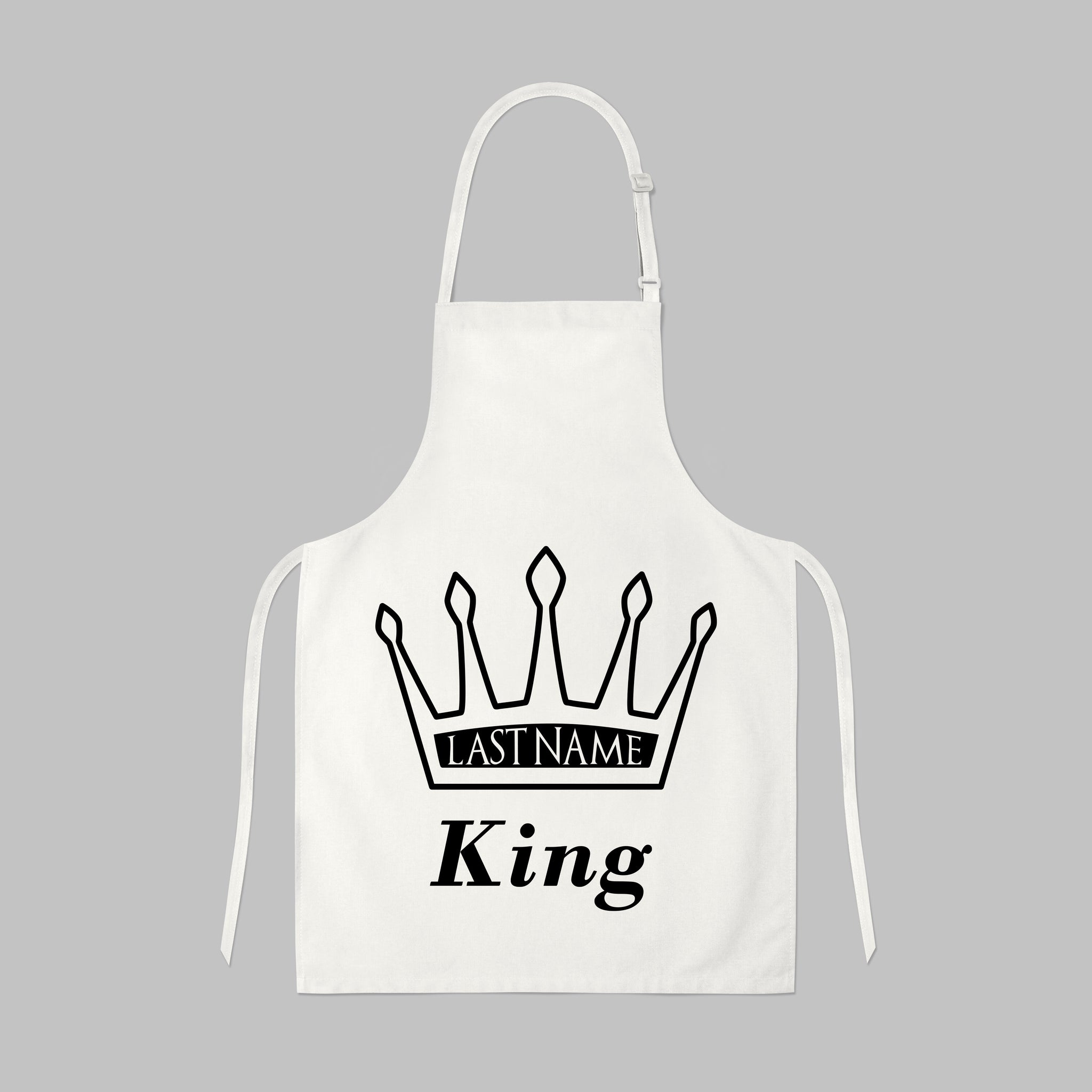 King (Last Name) Apron, Aprons - Peachy Brass