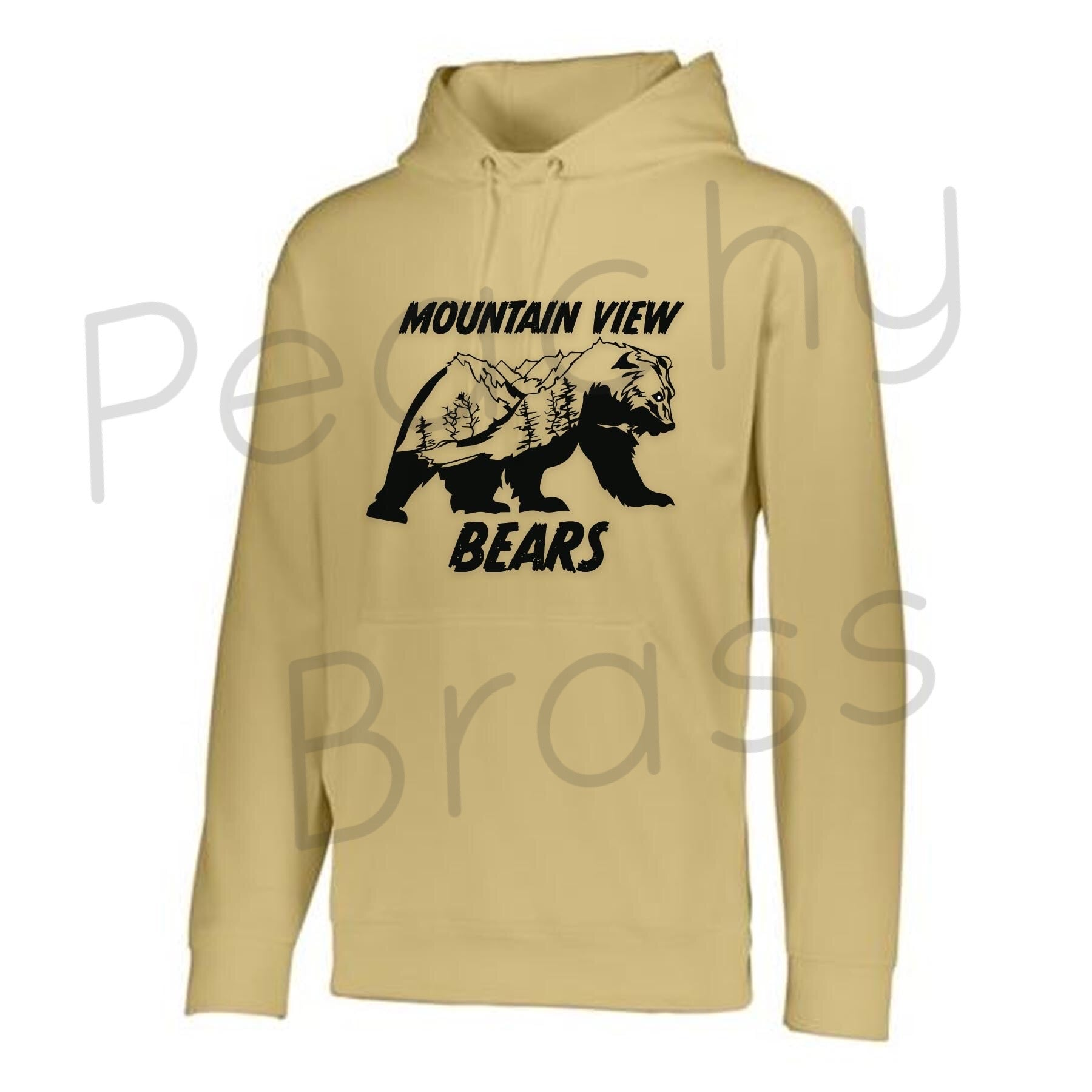 Mountain View Bears (Gold) Hoodie, Hoodie - Peachy Brass