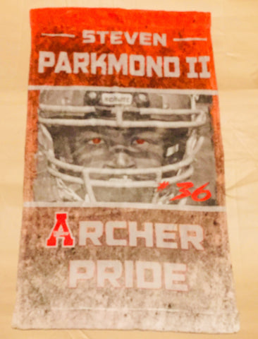 Archer Tigers Player Towel - Peachy Brass