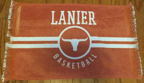 Lanier Longhorns Rally Towel, Towels - Peachy Brass
