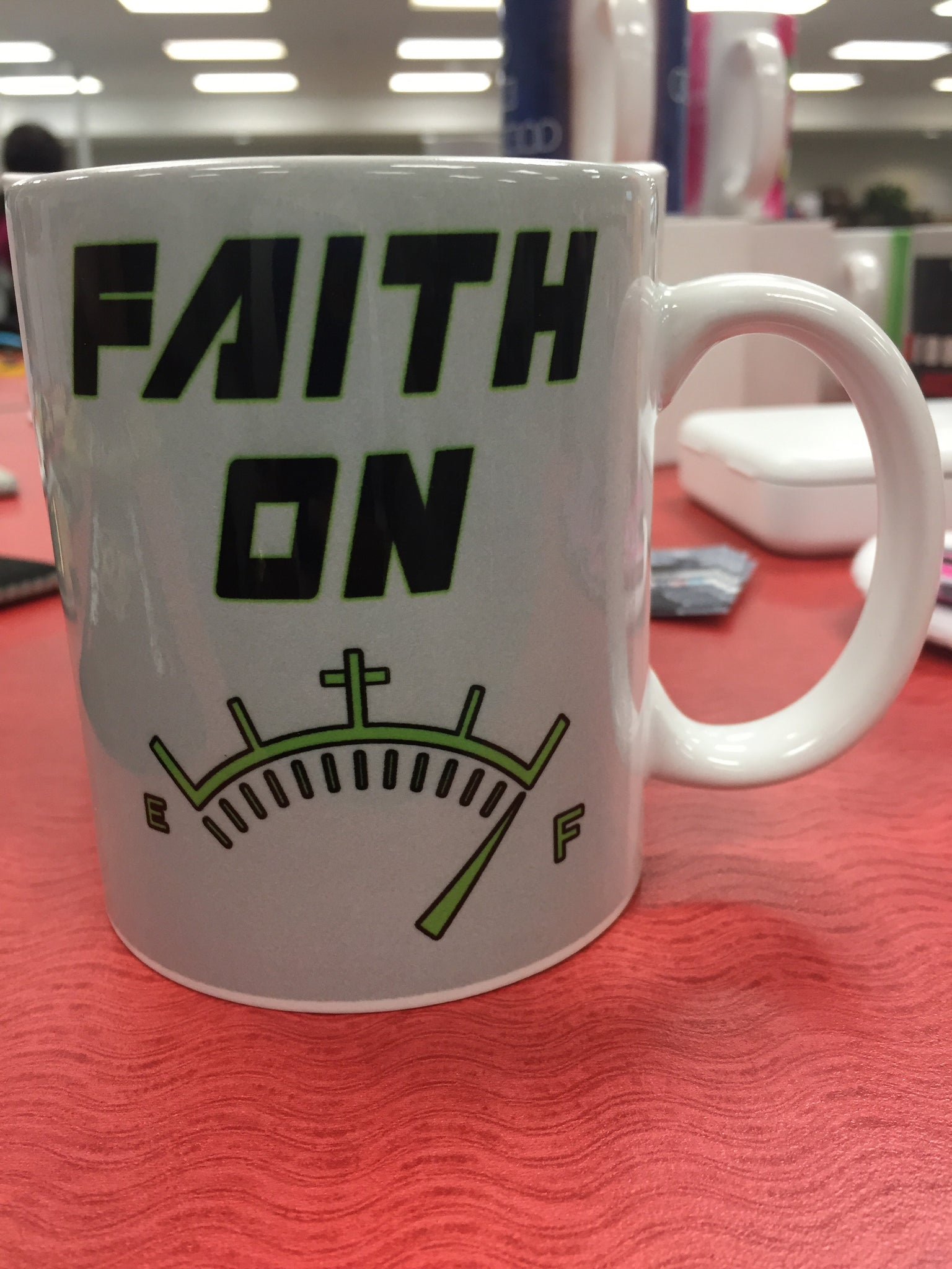 Faith On Full Mug - Peachy Brass