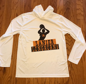 Lanier Longhorn Performance Hoodie - Peachy Brass