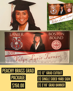 Peachy Brass Graduation Package (Reusable/Keepsake)